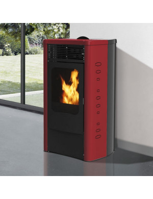 Stufa-pellet-Dida-Plus-12kw-italiana-camini-bordeaux
