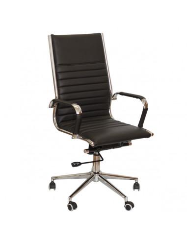 Sedia-ufficio-Premium-base-metallo-nero