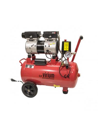 Compressore aria elettrico silenziato a secco 24 L 550W 8 Bar Virium