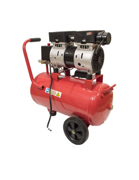 Compressore aria elettrico silenziato a secco 24 L 550W 8 Bar Virium ruote