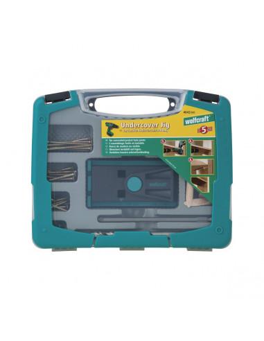 Set per giunzioni nascoste con dima e valigetta accessori 4642000 Wolfcraft