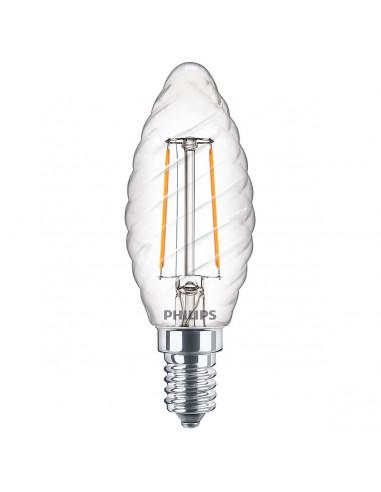 Lampadina LED tortiglione a filamento ST35 E14 25W Philips