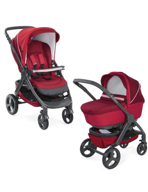 Passeggino combinato Chicco Duo StyleGo Up Crossover Red Passion