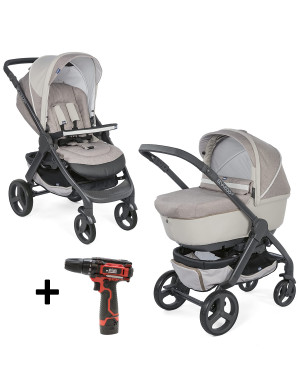 Kit passeggino Chicco Duo StyleGo UP Crossover Beige con avvitatore 12V