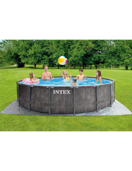 Piscina Intex Prism Frame Greywood 457xh122cm e accessori 26742 acquistabile online