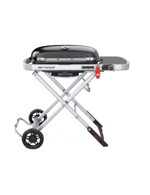 Barbecue-gas-Weber-Traveler-nero-chiusura-coperchio