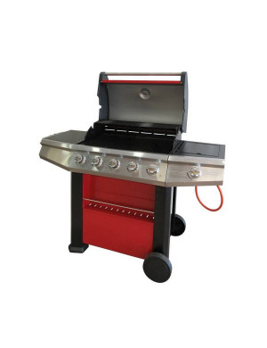 Barbecue a gas 5+1 fuochi FirePlus Master Cook rosso