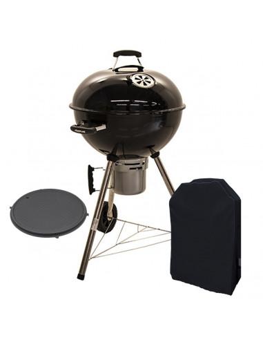 Barbecue a carbone rotondo con coperchio e accessori