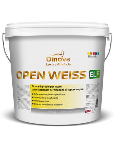 Pittura traspirante lavabile per interni OPEN WEISS ELF