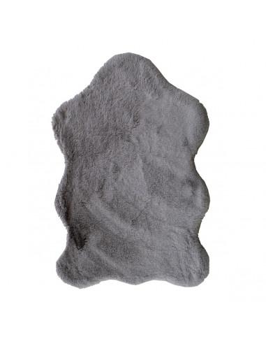 Tappeto Fur Grey in pelliccia sintetica Sobel