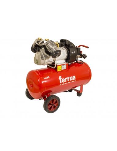 Compressore-aria-bicilindrico-a-V-50L-HP3-Ferrua-VDC-50-CM3