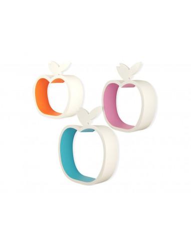 Set-mensole-legno-3pz-Apple-color